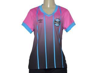 Camiseta Feminina Grêmio 3g00069 Rosa/azul/preto - Tamanho Médio