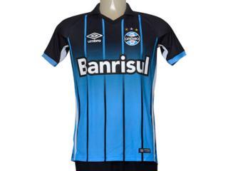Camiseta Masculina Grêmio 3g00061 of 2016 Fan Azul/preto - Tamanho Médio