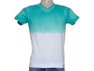 Camiseta Masculina Index 08.02.000276 Verde/off White - Tamanho Médio