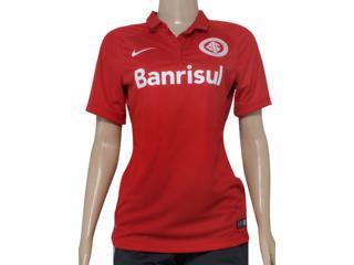 Camiseta Feminina Inter 658975-612 Sci w Home Torcedor  Vermelho - Tamanho Médio