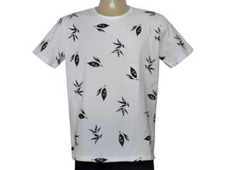 Camiseta Masculina King & Joe Ca09303 Off White/preto - Tamanho Médio