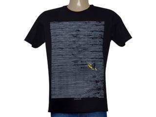 Camiseta Masculina King & Joe Ca09211 Preto/cinza - Tamanho Médio