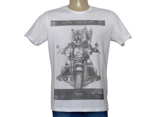 Camiseta Masculina King & Joe Ca09009 Off White/mescla - Tamanho Médio