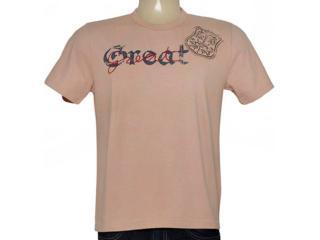 Camiseta Masculina Lei Básica Hl1061-19 Khaki - Tamanho Médio
