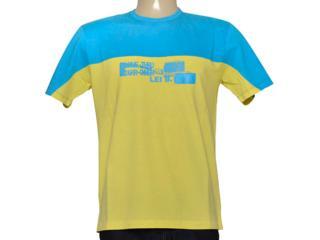 Camiseta Masculina Lei Básica Hl807 Azul/amarelo - Tamanho Médio