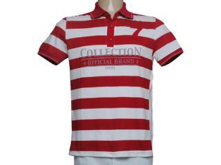 Camiseta Masculina Mineral 92738 Listrado Vermelho - Tamanho Médio