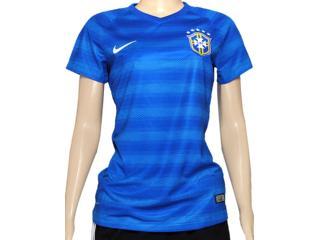 Camiseta Feminina Nike 575306-493 Cbf ss Away Stadium Jsy Azul - Tamanho Médio