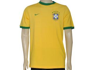 Camiseta Masculina Nike 612167-703curta Cbf Core Ringer Teeamarelo - Tamanho Médio