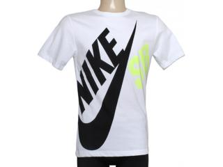 Camiseta Masculina Nike 619061-103 sb df Big Tee Branco/preto/limão - Tamanho Médio