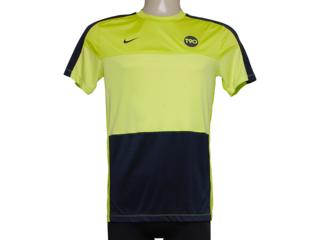 Camiseta Masculina Nike 477826-384 Limão/marinho - Tamanho Médio