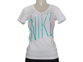 Camiseta Feminina Nike 632032-100 Tee Mid v Branco - Tamanho Médio