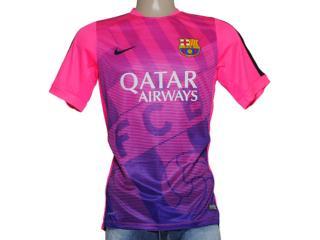 Camiseta Feminina Nike 643550-640 Fcb Squad Rosa/roxo - Tamanho Médio
