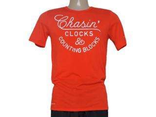 Camiseta Masculina Nike 684017-891 Run p Chasin Clocks Tee  Laranja - Tamanho Médio