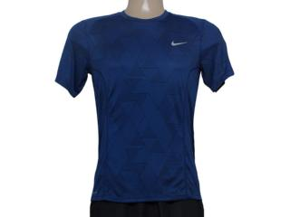 Camiseta Masculina Nike 683529-480 df Miler Optical ru  Azul/preto - Tamanho Médio