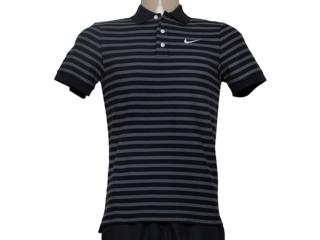 Camiseta Masculina Nike 679689-011 Matchup Listrado Preto/cinza - Tamanho Médio