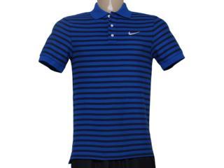 Camiseta Masculina Nike 679689-480 Matchup Listrado Azul/preto - Tamanho Médio