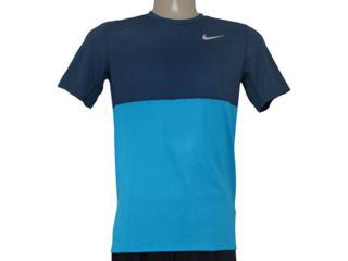 Camiseta Masculina Nike 644396-407 Racer ss  Marinho/azul - Tamanho Médio