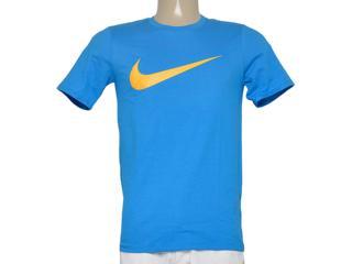 Camiseta Masculina Nike 696699-435 Chest Swoosh  Azul - Tamanho Médio