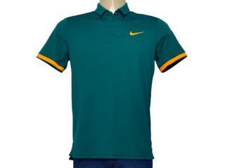 Camiseta Masculina 830849-303 Nikecourt Dry Tennis Polo Verde Escuro - Tamanho Médio