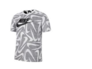 Camiseta Masculina Nike Ck2375-010 Sportswear Cinza/branco - Tamanho Médio