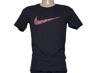 Camiseta Masculina Nike 779690-010 Tee-palm Print Swoo  Preto - Tamanho Médio