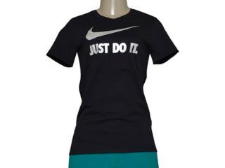 Camiseta Feminina Nike 685518-017 Tee-jdi Swoosh Crew Preto - Tamanho Médio
