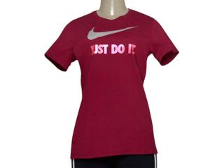Camiseta Feminina Nike 685518-620 Tee-jdi Swoosh Crew  Vinho - Tamanho Médio