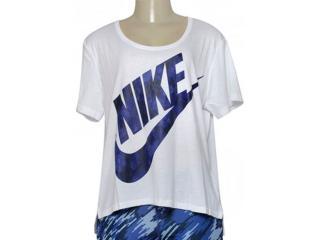 Camiseta Feminina Nike 843985-100 w Nsw Top gx Branco - Tamanho Médio