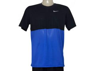 Camiseta Masculina Nike 644396-480 Racer ss Preto/azul - Tamanho Médio