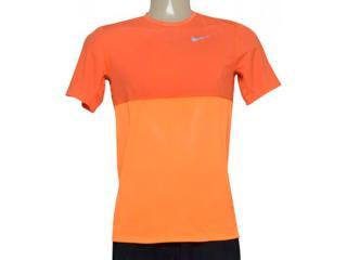Camiseta Masculina Nike 644396-810 Racer ss Laranja Neon - Tamanho Médio