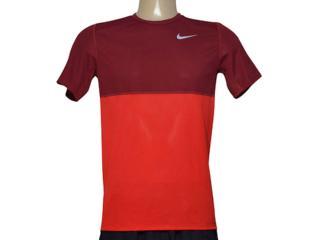 Camiseta Masculina Nike 644396-657 Racer ss Bordo/vermelho - Tamanho Médio