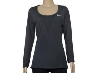 Camiseta Feminina Nike 831514-010 w nk Znl cl Grafite - Tamanho Médio
