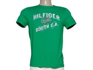 Camiseta Masculina Tommy Th0887849123 Verde - Tamanho Médio