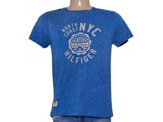 Camiseta Masculina Tommy Th0887882960 Azul - Tamanho Médio