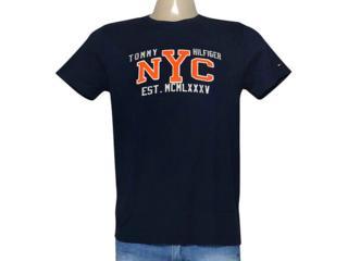 Camiseta Masculina Tommy Th0887878936 Marinho - Tamanho Médio