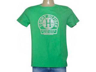 Camiseta Masculina Tommy Th0887872839 Verde - Tamanho Médio