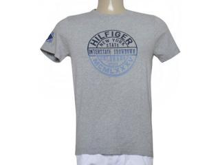 Camiseta Masculina Tommy Th0887872855 Cinza - Tamanho Médio