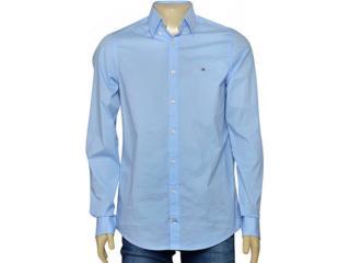 Camiseta Masculina Tommy Th0857883806 Azul Claro - Tamanho Médio