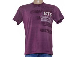 Camiseta Masculina Zinco 650126 Uva - Tamanho Médio