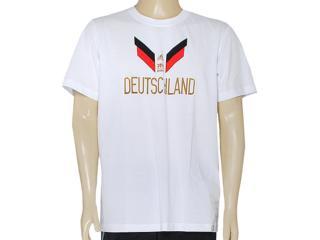Camiseta Masculina Adidas F39500 gr Alemanha Wc14 Branco - Tamanho Médio