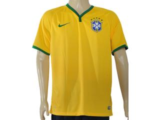 Camiseta Masculina Nike 575281-703 Cbf ss Home Stadium Amarelo/verde - Tamanho Médio