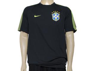 Camiseta Masculina Nike 575697-337 Cbf Squad ss tr Musgo/limão - Tamanho Médio