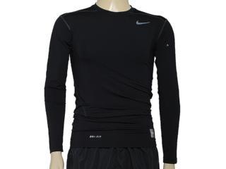 Camiseta Masculina Nike 449794-010 Core Compression ls to Preto - Tamanho Médio