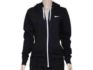 Casaco Feminino Nike 611719-010 Club fz Hoody-swoosh  Preto/branco - Tamanho Médio