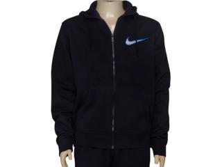 Casaco Masculino Nike 727757-010 Club Fleece Swoosh Full  Preto - Tamanho Médio