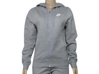 Casaco Feminino Nike  853930-063 w Nsw Hoodie fz Flc Cinza - Tamanho Médio