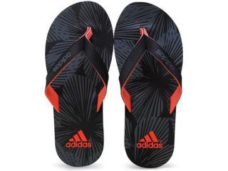 Chinelo Masculino Adidas B33763 Eezay Preto/cinza/coral - Tamanho Médio