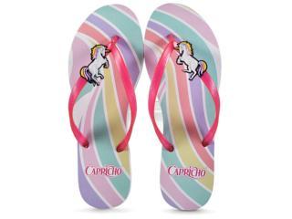 Chinelo Feminino Capricho Cp3072  Unicornio Branco/pink - Tamanho Médio