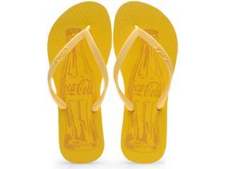 Chinelo Feminino Coca-cola Shoes Cc0589 Amarelo - Tamanho Médio