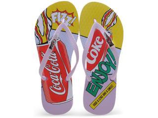 Chinelo Feminino Coca-cola Shoes Cc0593 Lilas - Tamanho Médio